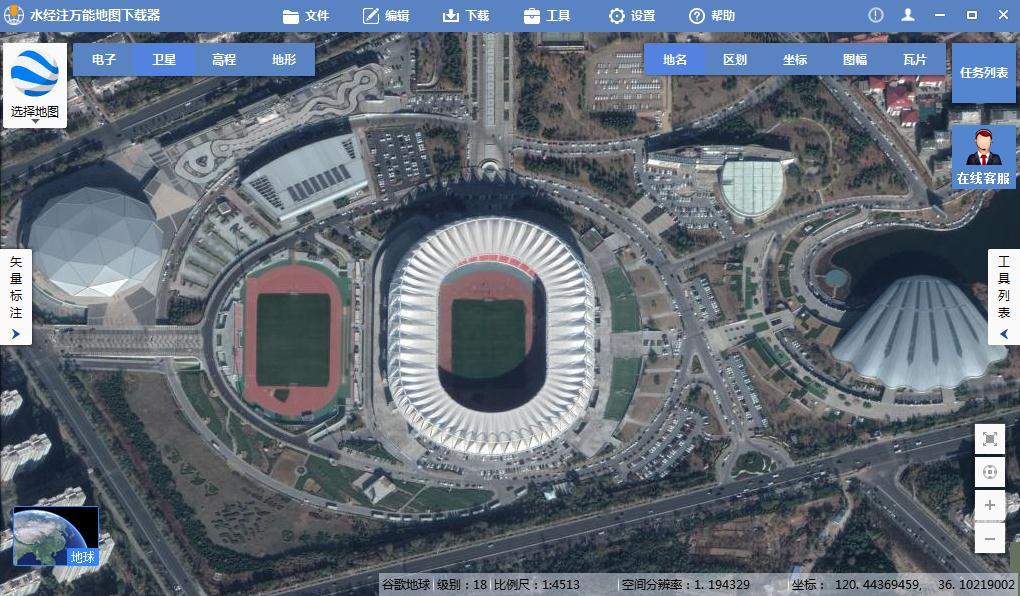 山东省青岛市谷歌高清卫星地图下载(百度网盘离线包下载)